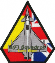 No. 3 (F) Squadron  RAF Lone Elder Deployment Spain Eurofighter Typhoon Spearhead Embroidered Patch